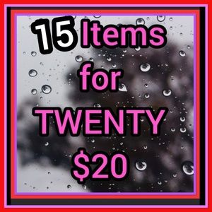ANY 15 items priced $5, $6, $7 or $8 for ONLY $20